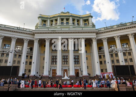 Moscow, Russia. 01st Sep, 2019. MOSCOW, RUSSIA - SEPTEMBER 1, 2019: The 5th Lestnitsa festival marking the 90th theatre season and the 80th anniversary of the building of the Russian Army Theatre. Stoyan Vassev/TASS Credit: ITAR-TASS News Agency/Alamy Live News - Stock Photo