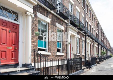 Georgian terraced houses, Canning Street, Canning, Liverpool, Merseyside, England, United Kingdom - Stock Photo