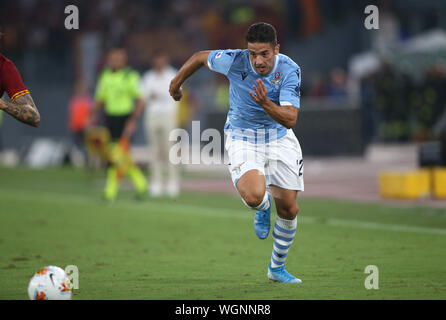 Rome, Italy. 01st Sep, 2019. Rome, Italy - September 1, 2019: Jony (LAZIO) in action during the Serie A soccer match derby between SS LAZIO and AS ROMA, at Olympic Stadium in Rome. Credit: Independent Photo Agency/Alamy Live News - Stock Photo