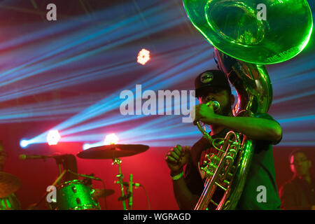 August 30, 2019: Damon ''Tuba Gooding Jr.'' Bryson of The Roots performs. (Credit Image: © Rishi DekaZUMA Wire) - Stock Photo