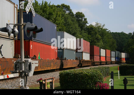 View Of Freight Train - Stock Photo
