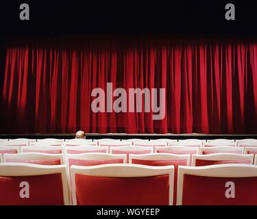 Rows Of Chairs In Theater - Stock Photo