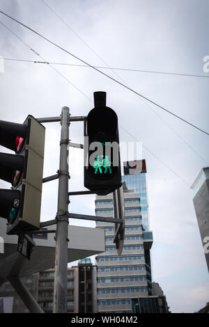 Green signal of a traffic light - Stock Photo