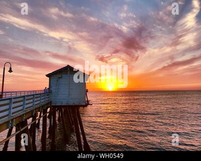 Scenic View Of Sea Against Sky During Sunset - Stock Photo