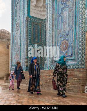 Shah-i-Zinda (Shohizinda) Necropolis, Samarkand, Uzbekistan - Stock Photo