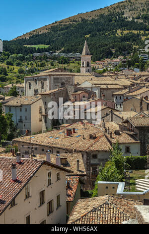 Pescocostanzo, wonderful mountain village in the Abruzzo Apennines - Stock Photo