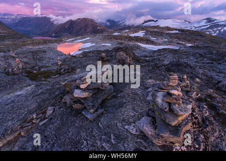 Beautiful landscape from Dalsnibba viewpoint - Stock Photo