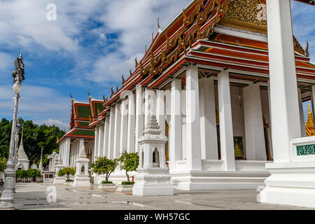 Vihara of Wat Ratchanatdaram, buddhist temple (wat) in Bangkok, Thailand - Stock Photo