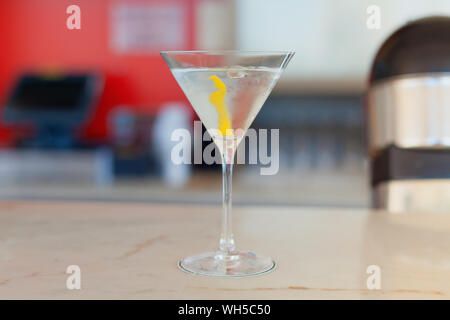 Close-up Of Martini In Glass On Table - Stock Photo