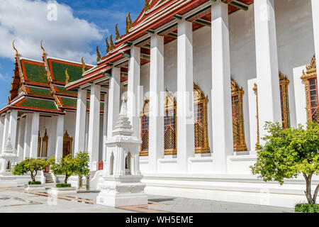 Big Thai style stupa (chediI) at Wat Thepthidaram, Bangkok, Thailand. - Stock Photo