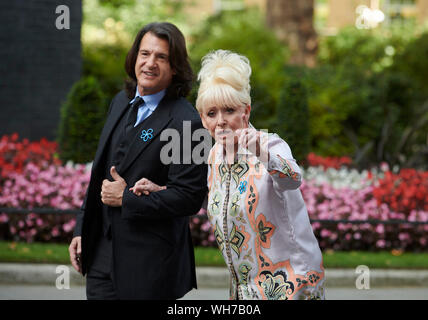London, UK. 2nd Sep, 2019. Barbara Windsor Arrives at 10 Downing Street to meet Boris Johnson to raise awareness of Dementia Care. Credit: Thomas Bowles/Alamy Live News - Stock Photo