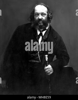 Mikail Alexandrovich Bakunin (1814-1876) the Russian anarchist.  .  . .  . . - Stock Photo