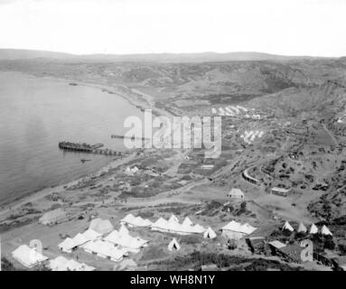 78 per cent of Anzacs were suffering from dysentery and 60 per cent from skin sores No 1 Australian Stationary Hospital at North Beach Anzac Cove - Stock Photo