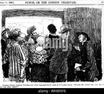 Cartoon from Punch 16 July 1924 Tomb of Tutankhmen - Stock Photo