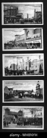 From a set of cigarette cards recording the British Empire Exhibition - Stock Photo