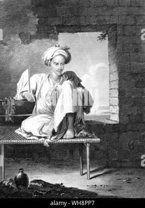 An Abyssinian at Massawa.  From a drawing by Henry Salt in Lord Valentia's Voyages and Travels - Stock Photo