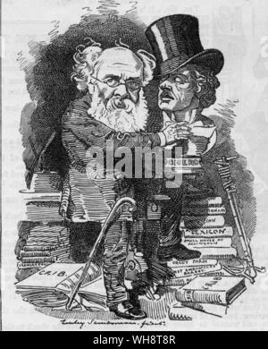A cartoon from Punch Anthony Trollope - Stock Photo