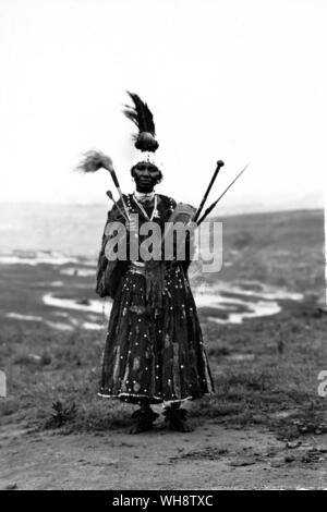The Diviner among the Basuto of South Africa Early 20th century photograph from the Duggan Cronin Gallery - Stock Photo