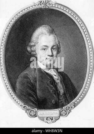 Gotthold  Ephraim Lessing 1729-1781 German dramaists and critic - Stock Photo