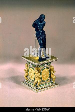 Christ at the column. from Louis' collection of jewellery - Stock Photo