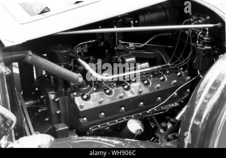 Engine detail from the Packard V12. - Stock Photo