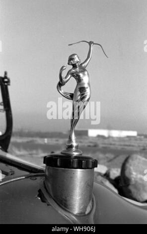 The hood ornament from Moon's eight-cylinder Diana of 1925-28.. - Stock Photo
