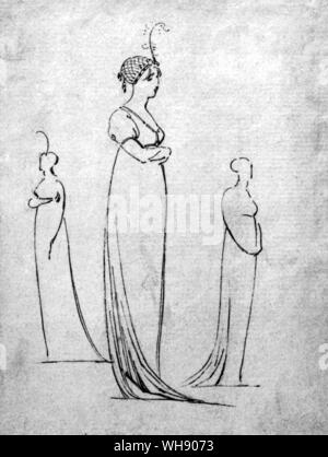 Charlotte Nelson, now of debutante age was also staying in the house. Never a layabed, Emma quickly recovered from childbirth and the death of her baby to act as Charlotte's chaperone.. - Stock Photo