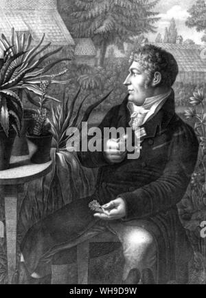 Karl Ludwig Willdenow, who first introduced the young Humboldt to botany.  'From then on the subject became a passion.' - Stock Photo