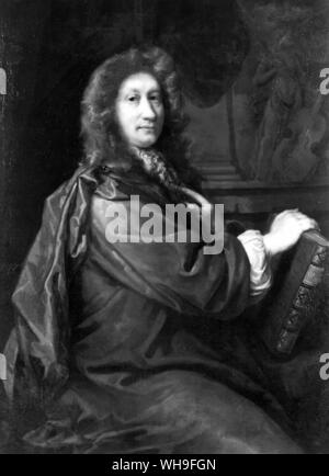 John Dryden (1631-1700), English poet and dramatist, circa 1685 by John Ridley (1646-1691). - Stock Photo