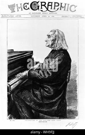 Franz Liszt (1811-1886), Hungarian born composer. An outstanding virtuoso on the piano. - Stock Photo