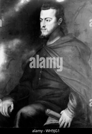 Philip II of Spain (1527-1598), King from 1556. - Stock Photo