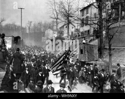Depression of 1893-4: Jacob Coxey's army of the unemployed marched from Massillon, Ohio to Washington - Stock Photo