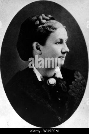 Mary Mason Fairbanks: 'As long-suffering, withal, as a natural mother.' Letter to his family,1868 - photo from Mark Twain's biography - photo from Mark Twain's biography - Stock Photo