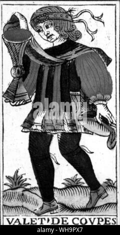 Tarot card - the Page from a French Marseilles pack - Stock Photo