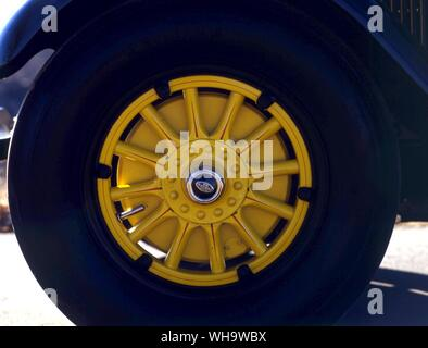 Wheel from the 1927 Lincoln Model L-134B - Stock Photo