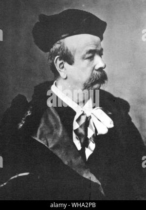 Charles Frederick Worth, born 13th October 1825 at Bourne, Lincolnshire, died 10th March 1895 at Paris - from an oil painting by C. H. Giron 1889 - Stock Photo