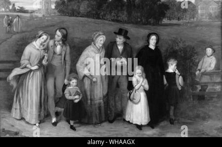 Sunday morning - the walk from church. by Richard Redgrave 1846. . - Stock Photo