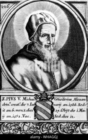 Pope Pius V. Pius V (orig. Antonio Michael Ghislieri) Italian saint and pope 1566-1572 _1504-1572 . . - Stock Photo