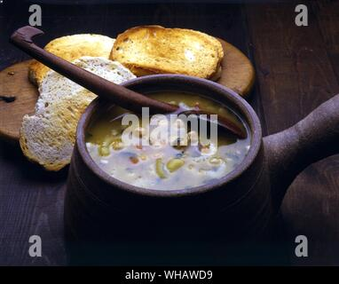 Italian Cooking By Robin Howe. . Zuppa Di Ceci.. Chick-Pea Soup. - Stock Photo