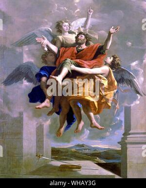The Ecstasy of St Paul painted by Nicolas Poussin (1594-1665) for Paul Scarron. The Sun King by Nancy Mitford, page 121. - Stock Photo