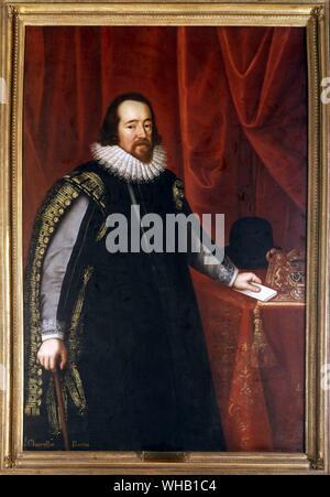 Sir Francis Bacon, 1st Viscount St. Alban KC (22 January 1561 - 9 April 1626). - Stock Photo