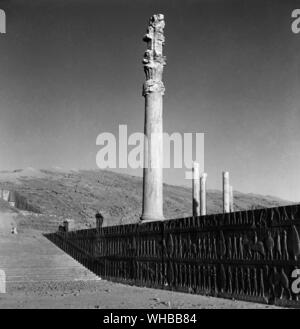 Persepolis : Ancient city of Persia , capital of the Persian Empire, founded by Darius . Near to modern Shiraz , Iran - Stock Photo