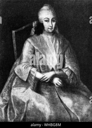 Anna Leopoldovna (1718 - 18 March 1746), also known as Anna Karlovna, regent of Russia for a few months (1740 - 1741) during the minority of her baby - Stock Photo
