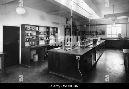 Tin Corrosion Laboratory . Tin Research Institute. - Stock Photo