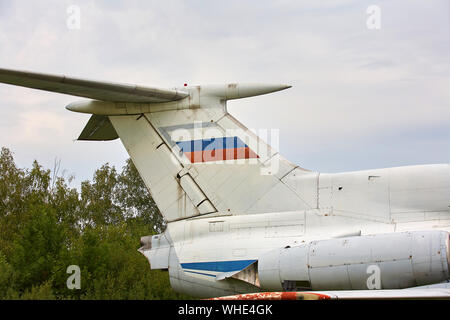 Elements of the old military plane close-up. - Stock Photo