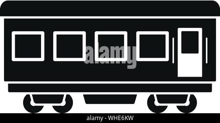 Passenger wagon icon. Simple illustration of passenger wagon vector icon for web design isolated on white background - Stock Photo