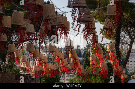 A picture of decorations in the Rainbow Street (Amman). - Stock Photo