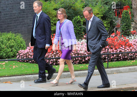 London, UK, 2nd Sep 2019. Cabinet Ministers, as well as many Conservative Party MPs and former politicians all enter No 10 Downing Street for an Emergency Cabinet Meeting, and later general Conservative Party gathering. Credit: Imageplotter/Alamy Live News - Stock Photo