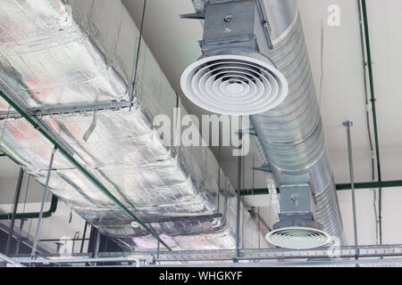 ventilation and cooling ventilation system on the ceiling - Stock Photo