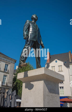 Le Voyage à Nantes, Philippe Ramette, Eloge du pas de côté (Lob auf den Schritt zur Seite) - Stock Photo